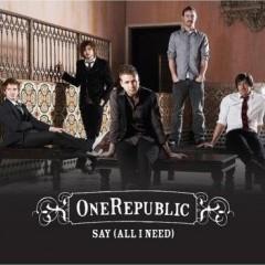 Say (All I Need) - One Republic